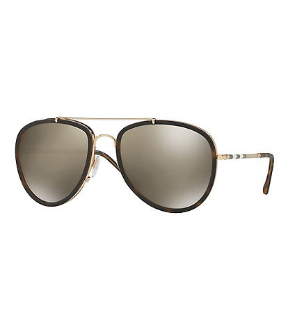 Burberry Mirrored Aviator Sunglasses