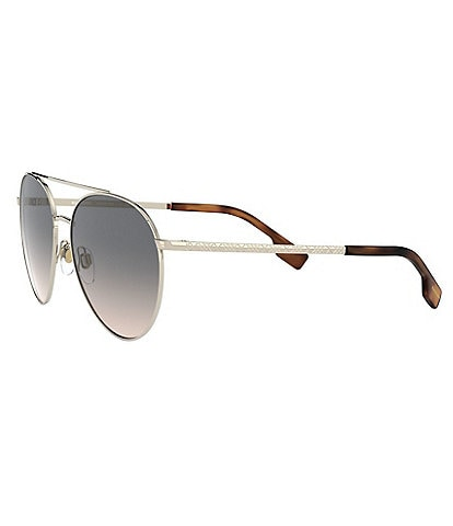 Burberry Top Bar Detail Round Frame 59mm Sunglasses