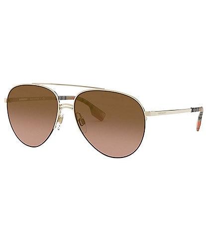 Burberry Top Bar Pilot Aviator Sunglasses