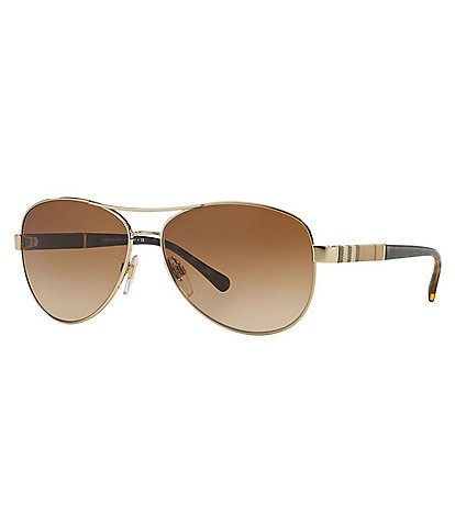 Burberry Women's Aviator Sunglasses