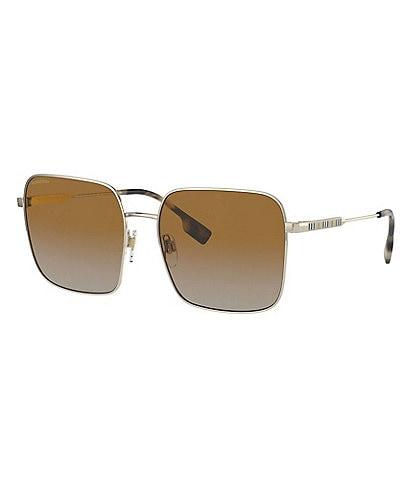 Burberry Women's Be3119 Polarized 58mm Square Sunglasses