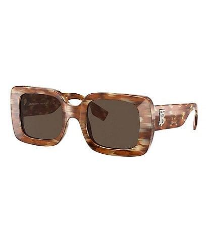 Burberry Women's Be4327 51mm Rectangular Sunglasses