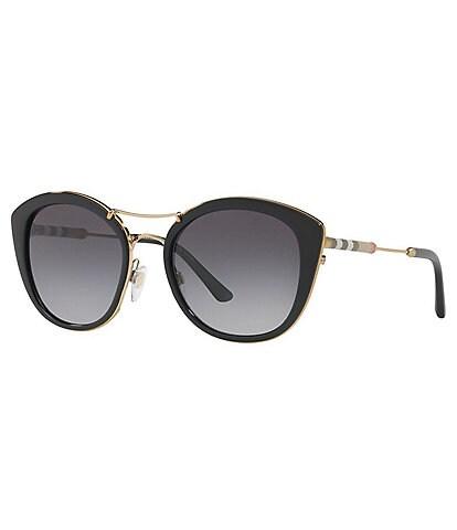 Burberry Women's Round Polarized Sunglasses