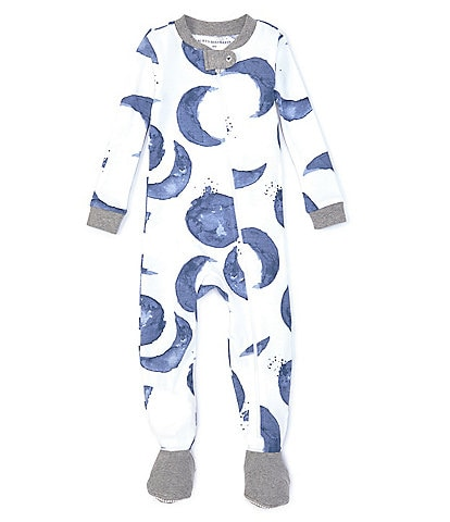 Burt's Bees Baby Boys 12-24 Months Long-Sleeve Hello Moon Footed Coverall