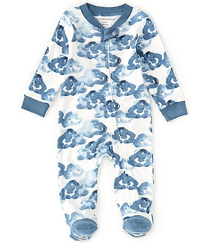 Burt's Bees Baby Boys Newborn-9 Months Long-Sleeve Moonlight Clouds Sleep & Play Footed Coverall