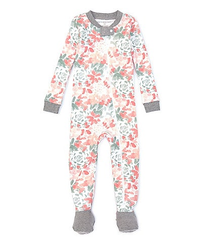 Burt's Bees Baby Girls Newborn-9 Months Long-Sleeve Tossed Succulent Footed Coverall