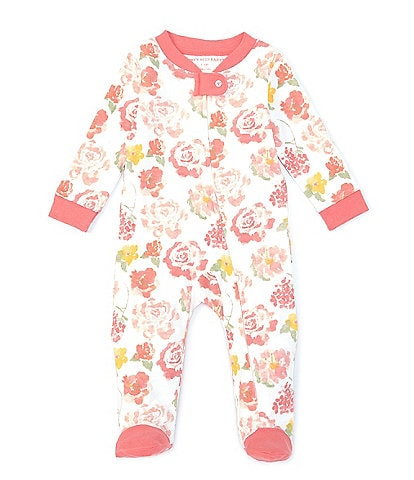 Burt's Bees Baby Girls Newborn-9 Months Rosy Spring Sleep & Play Footed Coverall