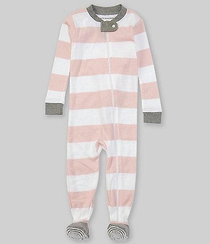 Burt's Bees Baby Newborn-24 Months Long-Sleeve Stripe Sleep & Play Snug-Fit Footed Pajamas