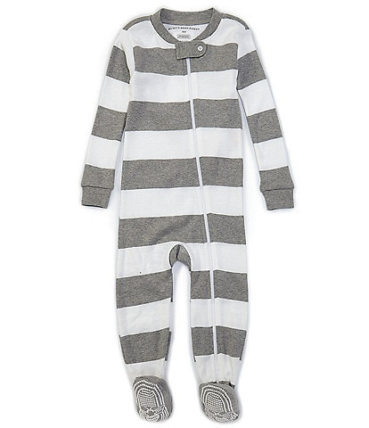 Burt's Bees Baby Newborn-24 Months Long-Sleeve Stripe Sleep & Play Snug-Fit Footed Pajamas