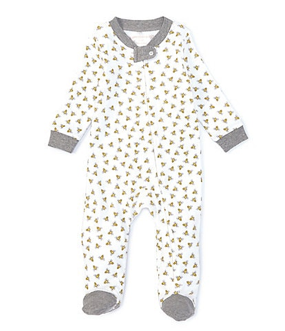 Burt's Bees Baby Newborn-9 Months Long-Sleeve Honey Bee Sleep & Play Footed Coverall