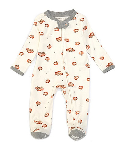 Burt's Bees Baby Newborn-9 Months Long-Sleeve Pumpkin Footed Coverall