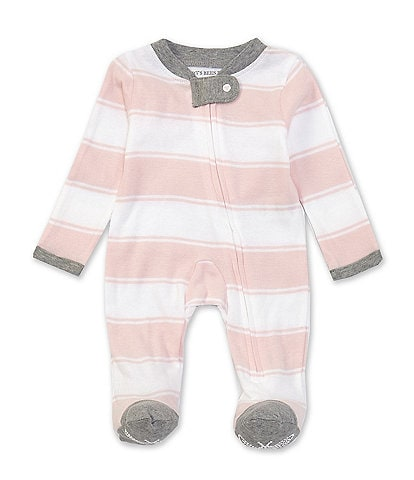 Burt's Bees Baby Newborn-9 Months Long-Sleeve Stripe Sleep & Play Footed Pajamas