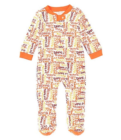 Burt's Bees Baby Newborn-9 Months Long-Sleeve Thankful Footed Coverall