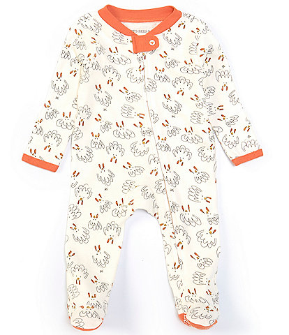 Burt's Bees Baby Newborn-9 Months Long-Sleeve Thanksgiving Turkey Footed Coverall