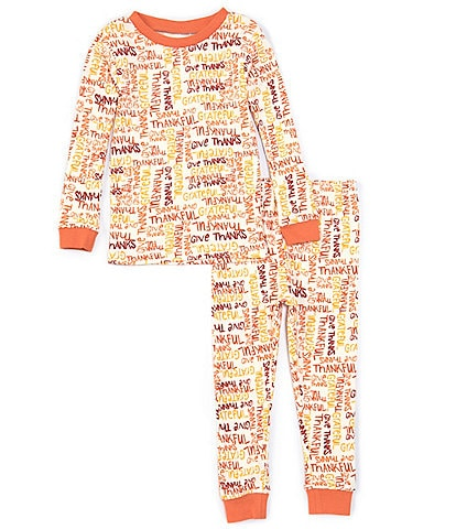 Burt's Bees Little Kids 2T-7 Thankful 2-Piece Pajamas Set