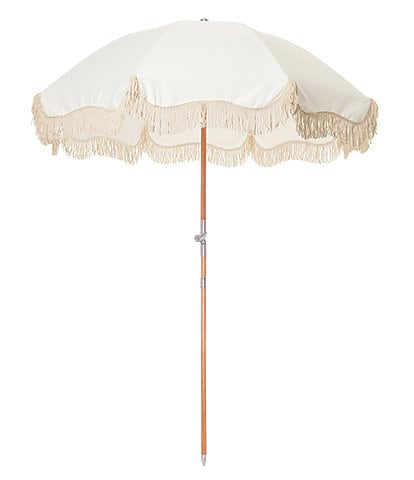 business & pleasure Antique White Premium Beach Umbrella