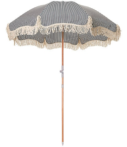 business & pleasure Lauren's Navy Stripe Premium Beach Umbrella