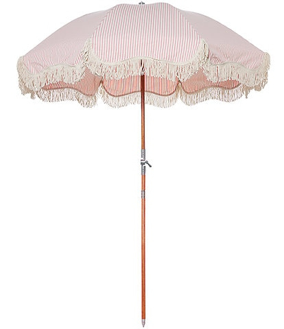 business & pleasure Lauren's Pink Stripe Premium Beach Umbrella