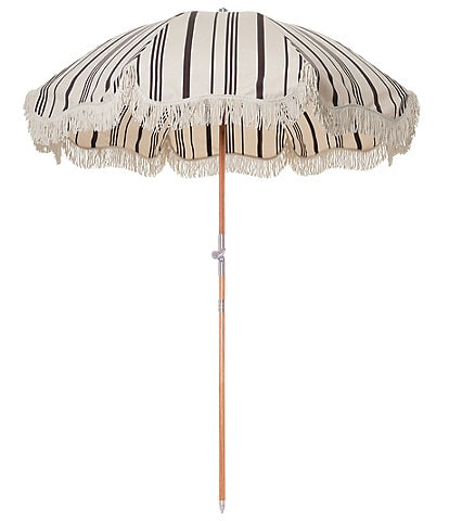 business & pleasure Vintage Black Stripe Premium Beach Umbrella