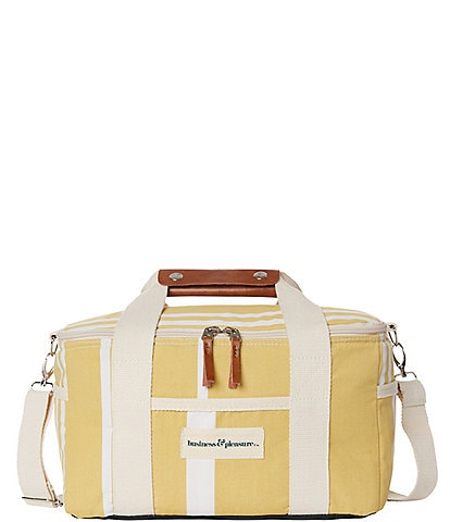 business & pleasure Vintage Yellow Stripe Premium Cooler