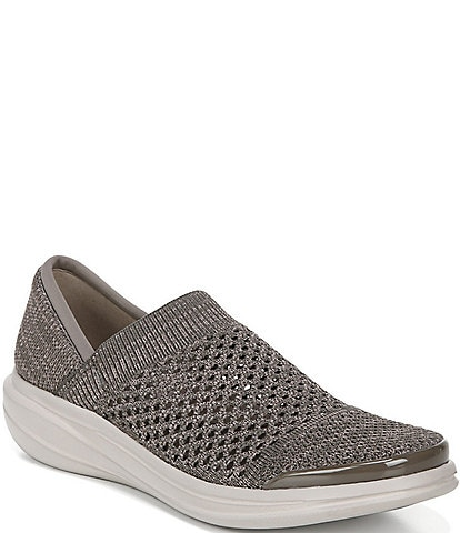 Bzees Charlie Open Knit Slip On Shoes
