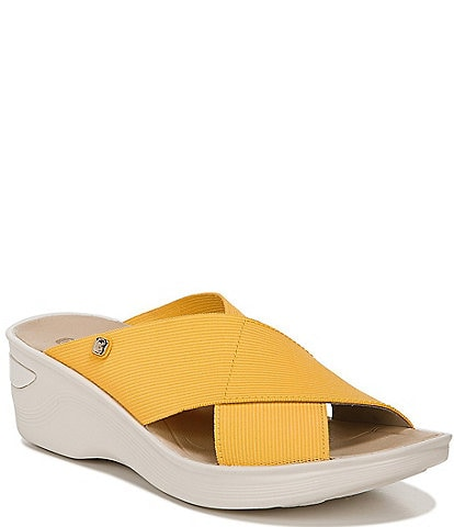 Bzees Desire Washable Stretch Wedge Sandals