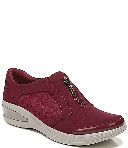 Bzees Florence Center Front Zip Slip-On Washable Sneakers
