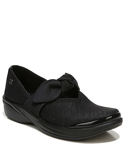 Bzees Playful Bow Mesh Washable Slip-On Skimmers