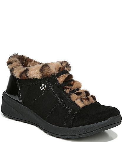 Bzees Premium Golden Faux Fur Lined Ankle Booties