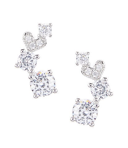 C by Cezanne Mini Crawler Earrings