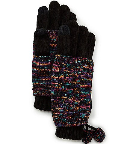 C.C. BEANIES Contrast Marled Touch Gloves