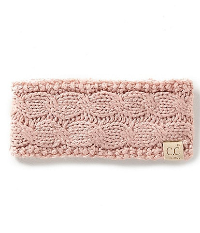 C.C. BEANIES Girls Cable Knit Headwrap