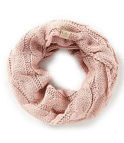 C.C. BEANIES Girls Cable Knit Infinity Scarf