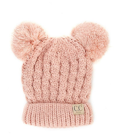 C.C. BEANIES Girls Double-Pom Beanie