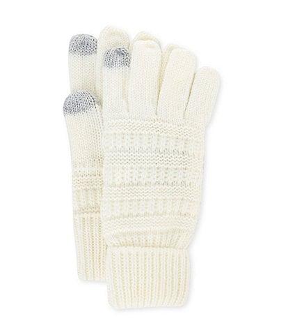 C.C. BEANIES Girls' Ribbed Smart-Tip Gloves