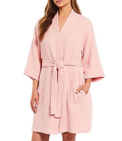 Cabernet Spa Essentials by Sleep Sense#double; & #double;Organic Turkish Cotton Gauze Robe#double;