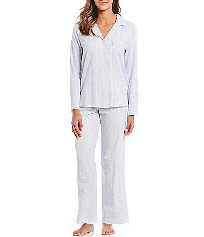 Cabernet Classic Dot Print Knit Pajamas