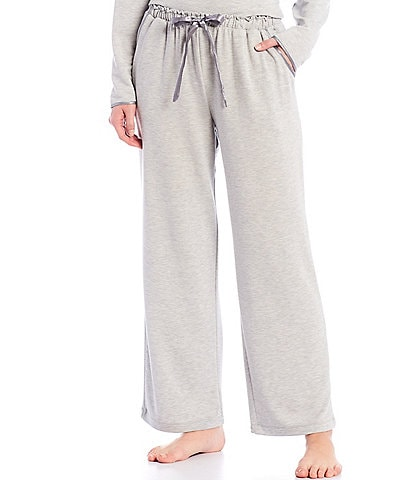 Cabernet French Terry Satin Trimmed Sleep Pants