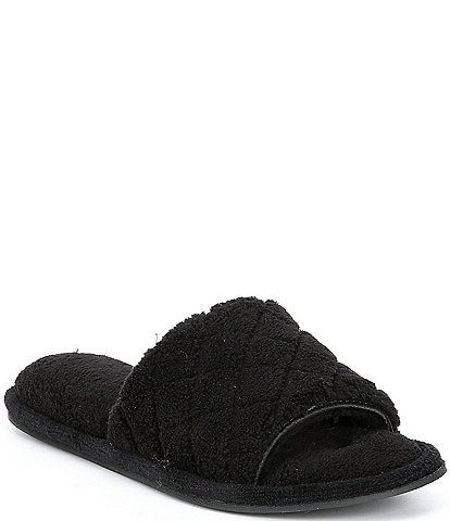 Cabernet Quilted Microfiber Terry Slippers