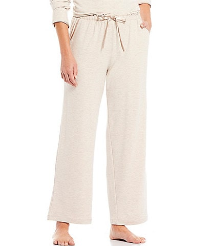 Cabernet Solid French Terry Knit Satin Trimmed Sleep Pants