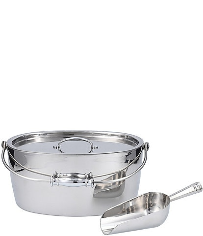 Cafthouse by Fortessa Stainless Steel Oval Ice Bucket w/Scoop Set