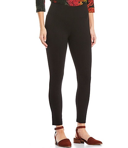 Calessa Petite Size Ponte Knit Pull-On Leggings