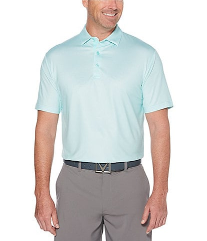 Callaway Golf Big & Tall Gingham Short-Sleeve Polo Shirt
