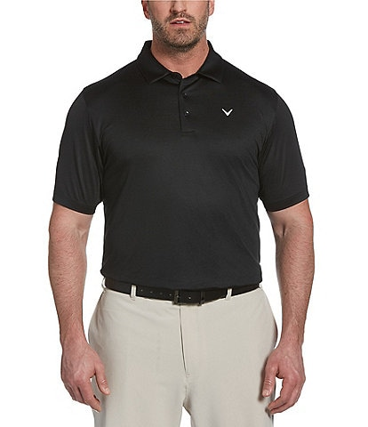 Callaway Golf Big & Tall Solid Swingtech Stretch Short-Sleeve Polo Shirt