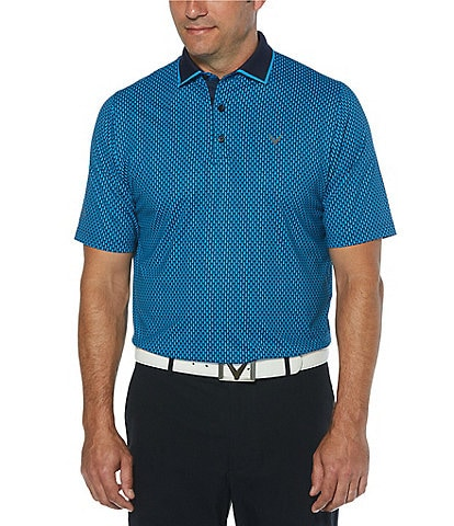 Callaway Golf Short-Sleeve All-Over Novelty Print SwingTech Polo Shirt