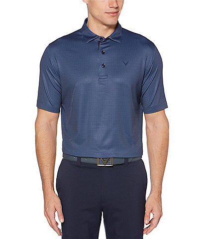Callaway Golf Short-Sleeve Gingham Polo
