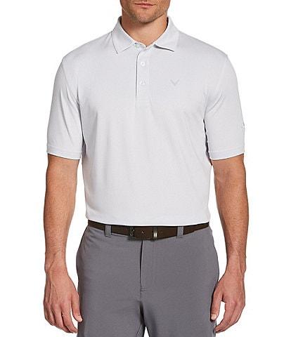 Callaway Short-Sleeve Fine Line Stripe OptiDri™ Polo