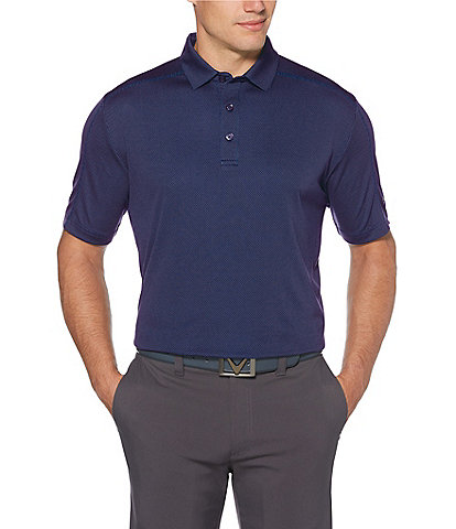 Callaway Short-Sleeve Opti-Dri Jacquard Golf Polo