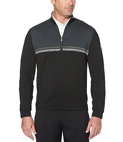 Callaway Therma Lightweight Fleece 1/4 Zip Linear Print Pullover