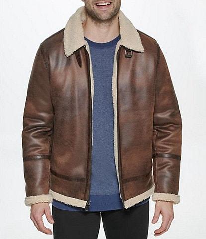 Calvin Klein B-3 Faux-Shearling Jacket